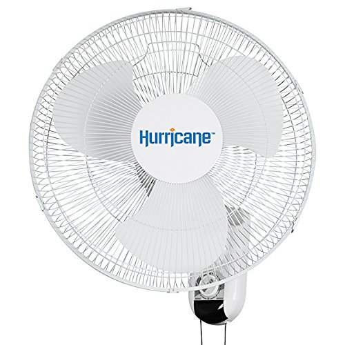 Hurricane Classic Oscillating Wall Mount Fan 16""