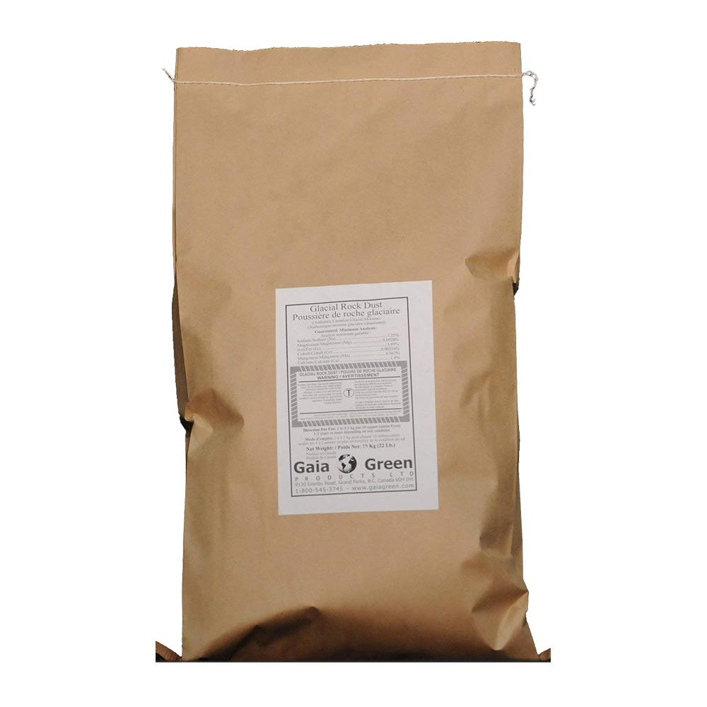 GAIA GREEN GLACIAL ROCK DUST 10KG