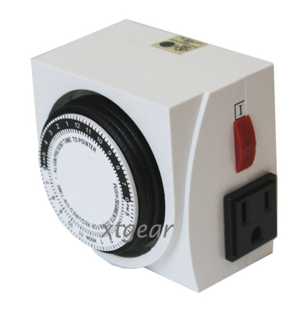GROWERBASICS 24 HOUR DUAL GROUNDED TIMER