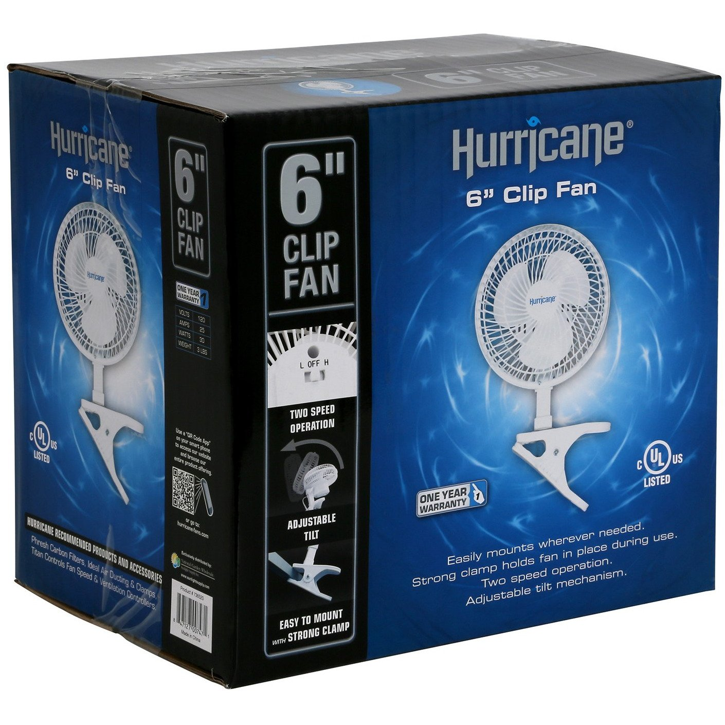 Hurricane Clip Fan 6""