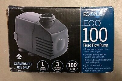 ECOPLUS ECO 100 FIXED FLOW SUBMERSIBLE ONLY PUMP 100 GPH