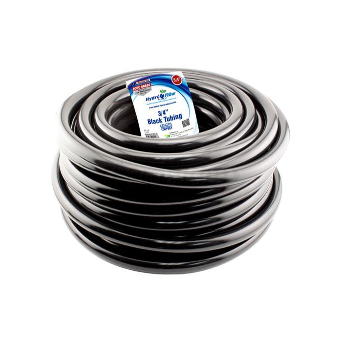 HYDRO FLOW VINYL TUBING BLACK 3/4 IN ID - 1 IN OD 100 FT ROLL (EA)