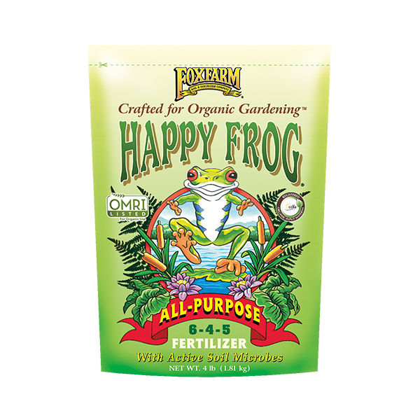 FoxFarm Happy Frog All Purpose Fertilizer 6-4-5 4Lbs