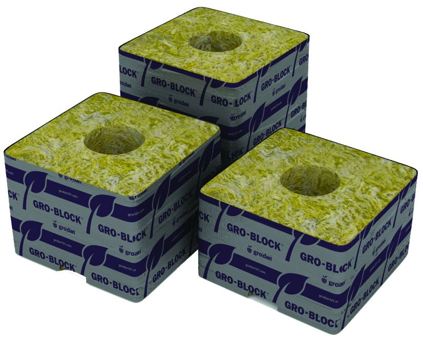 "GRODAN GRO-BLOCKS DELTA 4X4X2.5"" UNWRAPPED (216)"