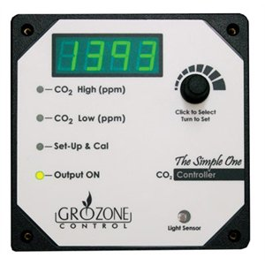 GROZONE SC02 CO2 CONTROLLER 1 OUTPUT 0-5000 PPM