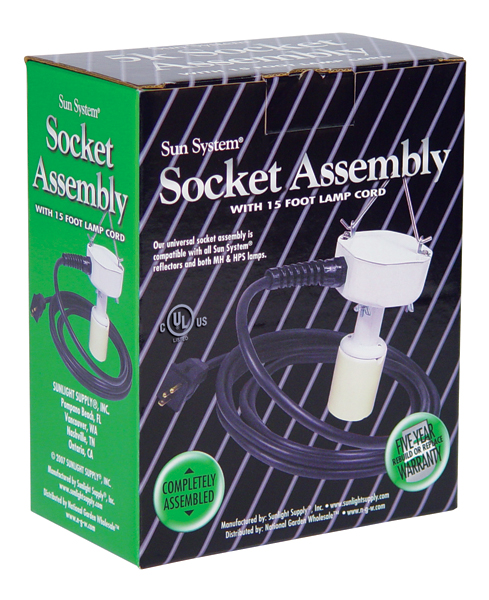 SOCKET ASSEMBLY W/15FT LAMP CORD 16 GAUGE