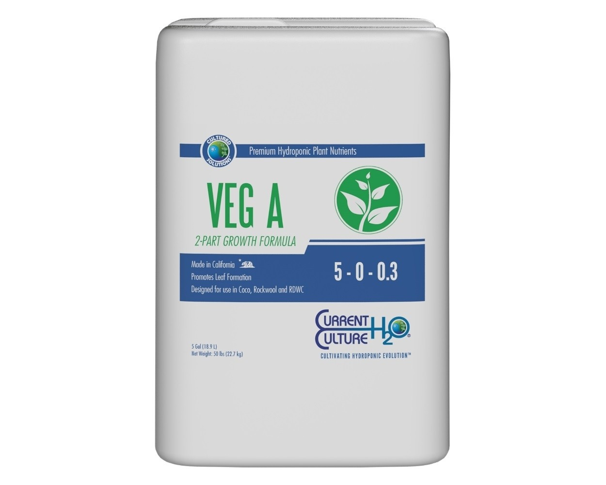CURRENT CULTURE CULTURED SOLUTIONS VEG A 5 GALLON