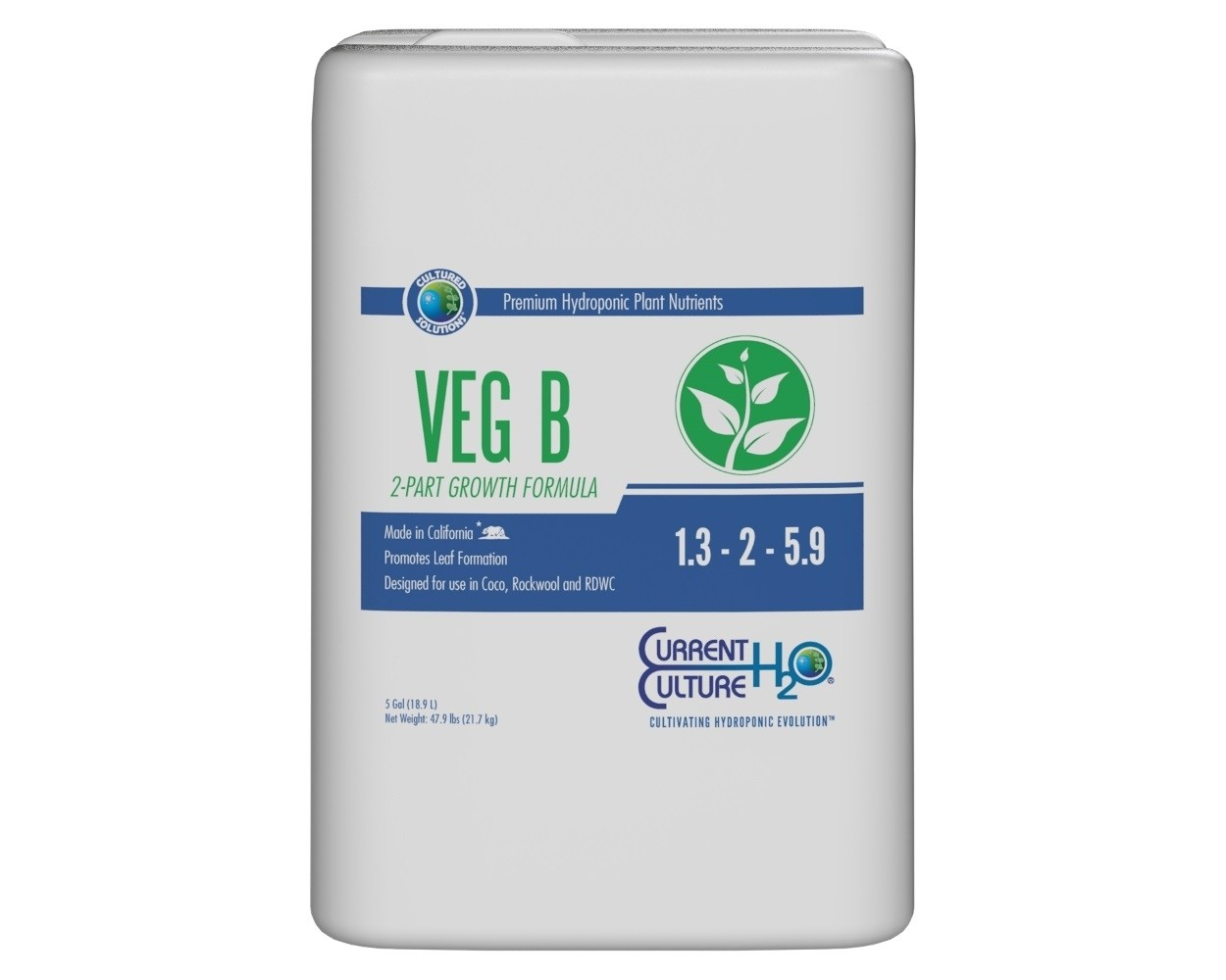 CURRENT CULTURE CULTURED SOLUTIONS VEG B 5 GALLON