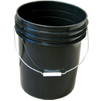 Bucket Black 5 Gallons