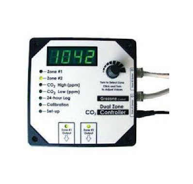 GroZone CO2D Dual Zone CO2 Controller 0-5000 PPM - CO003BF