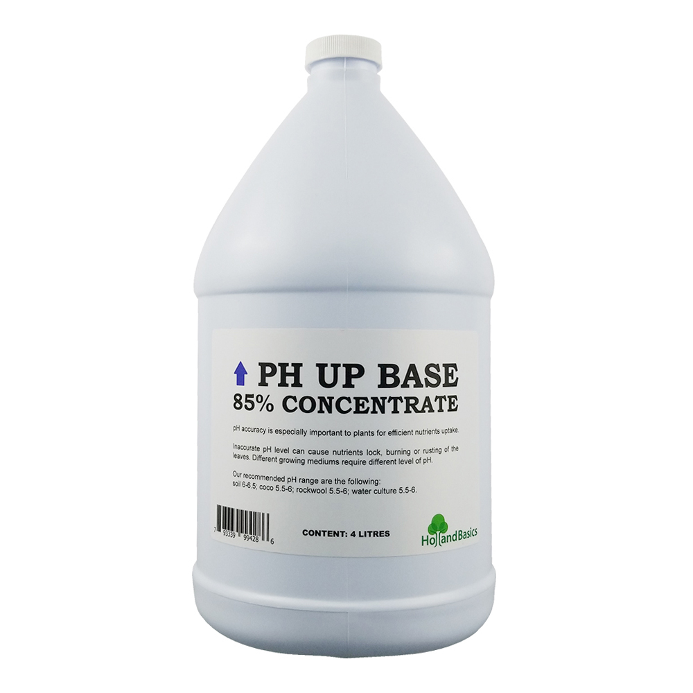 HollandBasics pH Up Base 85% Concentrate 4 Litres